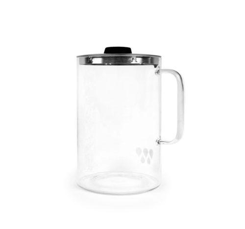 Très belle #carafe en verre concue pour le distillateur d'eau Waterlovers. Elle est équipée d'un couvercle amovible et d'un bouchon. Entièrement en verre elle a une capacité de 3 litres.