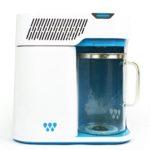 Photo du distillateur d'eau Waterlovers DW2800 vue de face. La carafe en verre avec son couvercle est bien visible