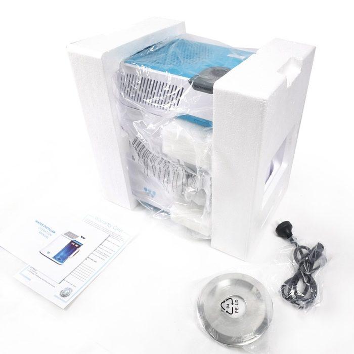 hoto de l'emballage du distillateur eau Waterlovers DW2800.