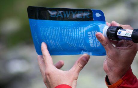 Poche à eau équipée d'un filtre
